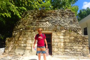 'Authentic Mayan Ruins'- swing door included